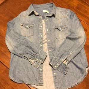Gently used denim chambray shirt in size small